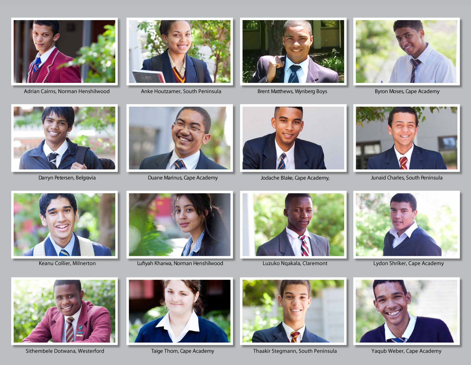 Grade 12 2013 Cohort - SAILI Maths Science Scholarship Students