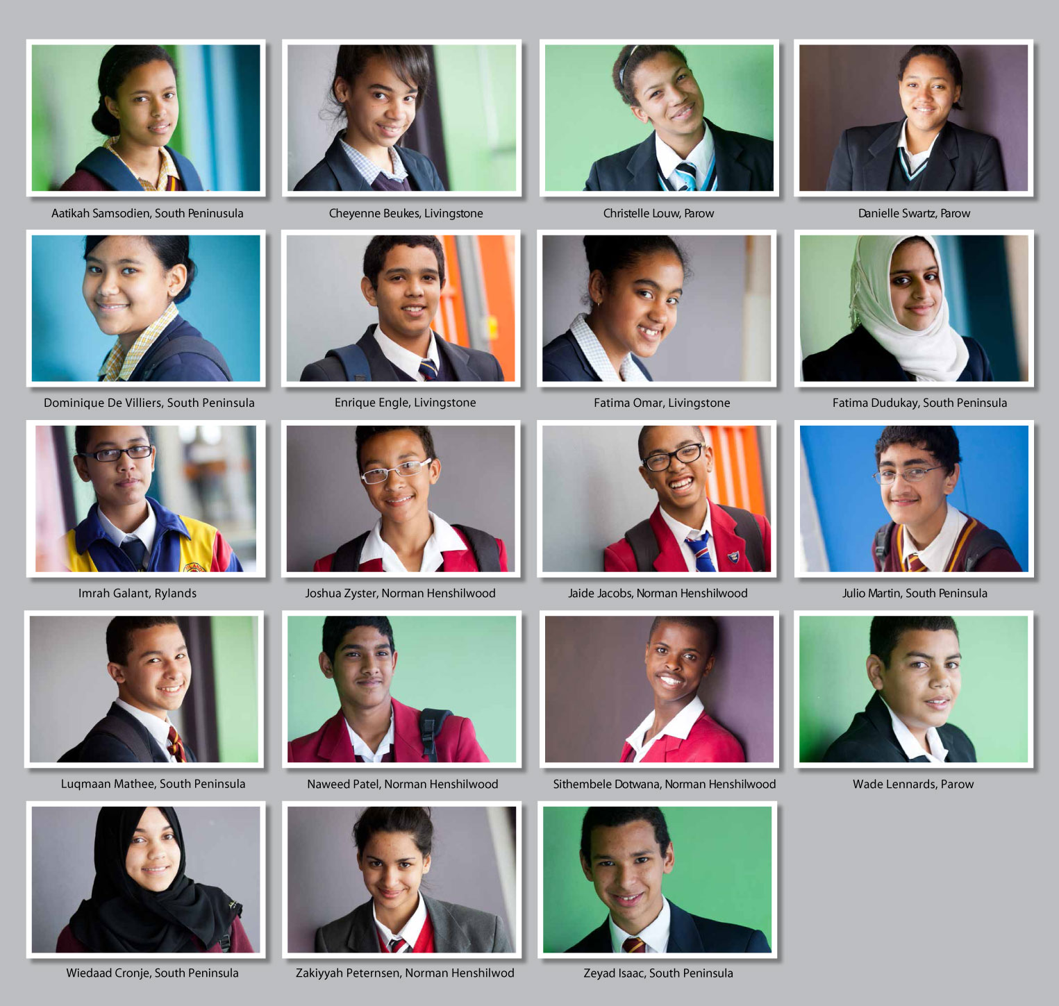 Grade 9 2013 Cohort - SAILI Maths Science Scholarship Students