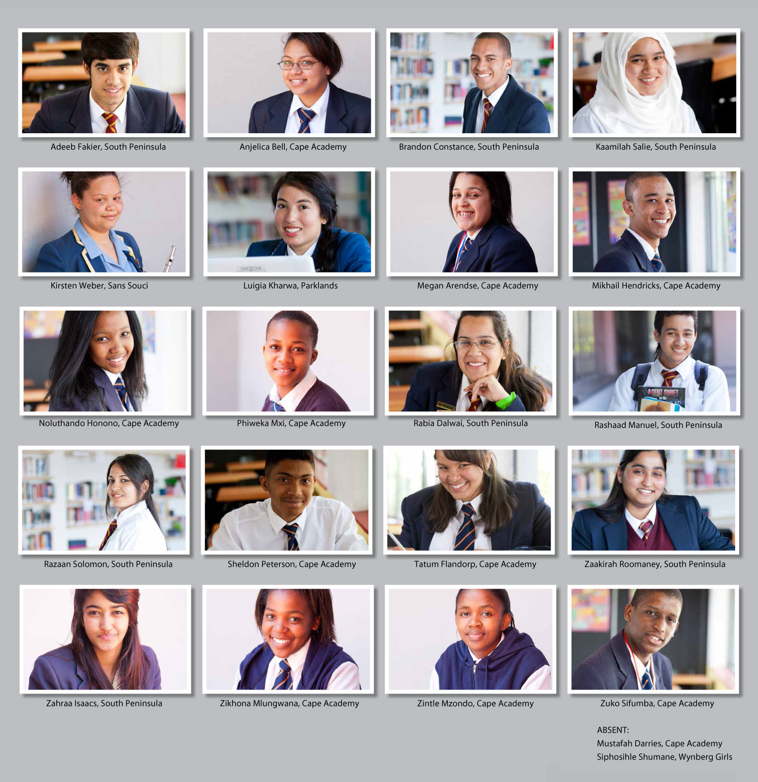 Matric 2013 Cohort - SAILI Maths Science Scholarship Students